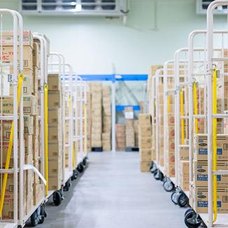 イメージ:当社の強み2~安心・安全・品質重視の物流システム~